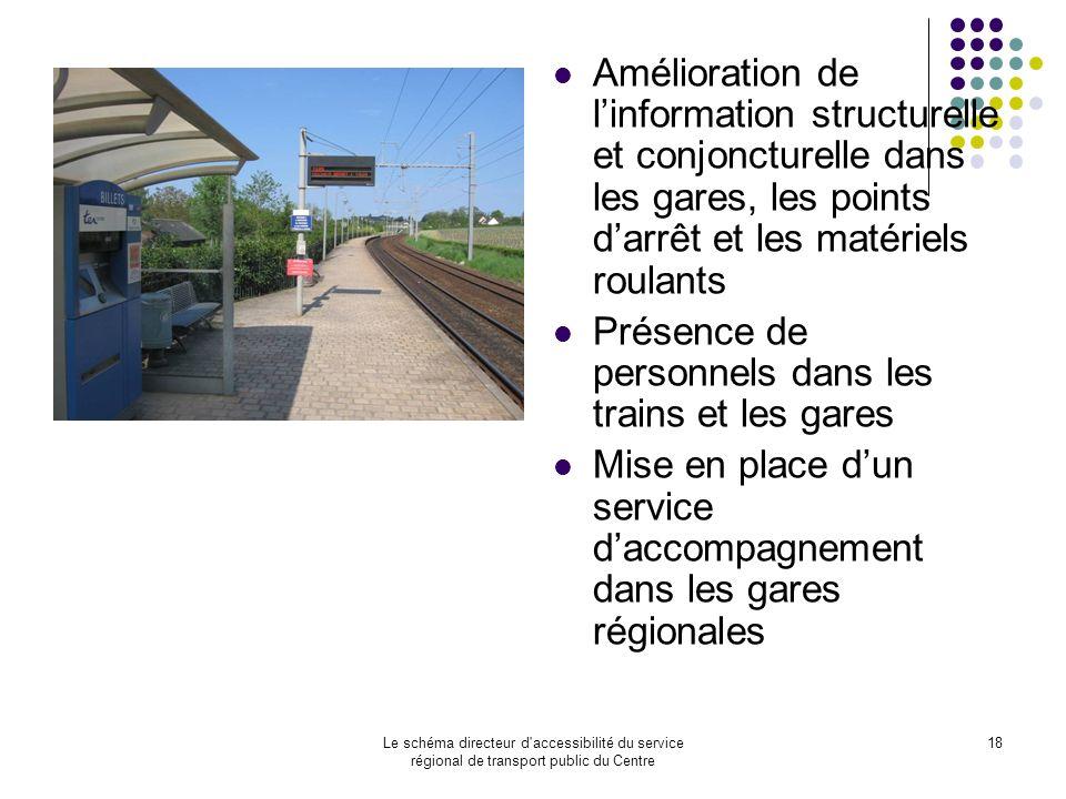Présence de personnels dans les trains et les gares