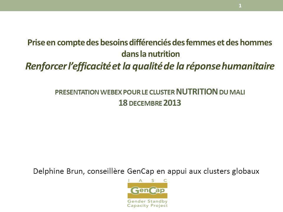 Delphine Brun, conseillère GenCap en appui aux clusters globaux
