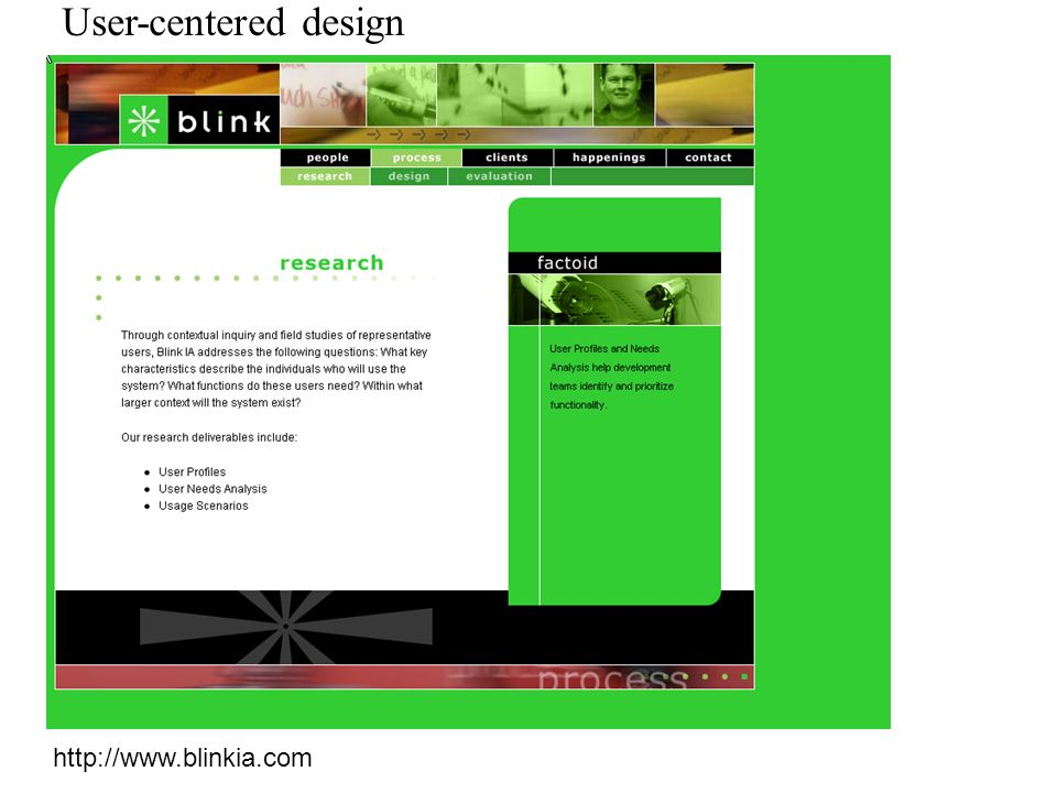 User-centered design http://www.blinkia.com
