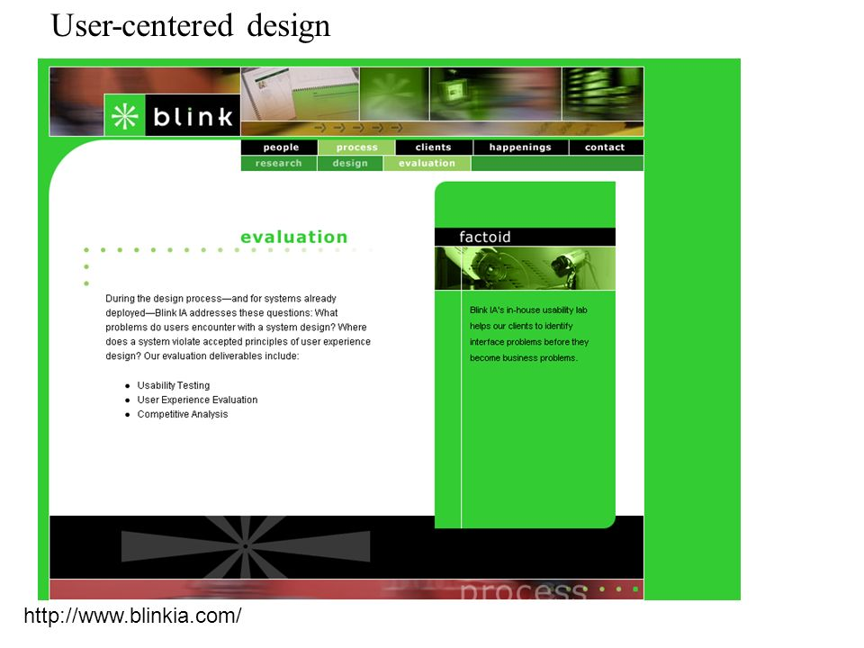 User-centered design http://www.blinkia.com/
