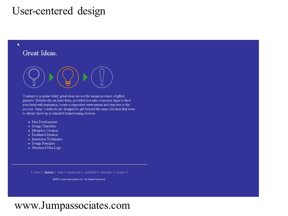 User-centered design www.Jumpassociates.com