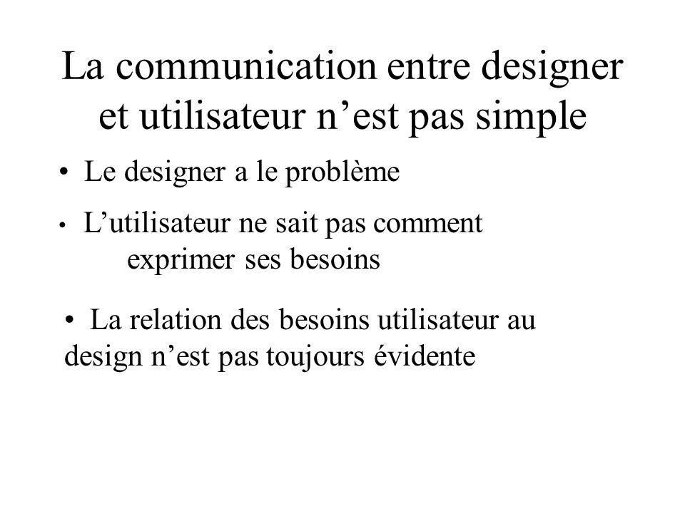 La communication entre designer et utilisateur n'est pas simple