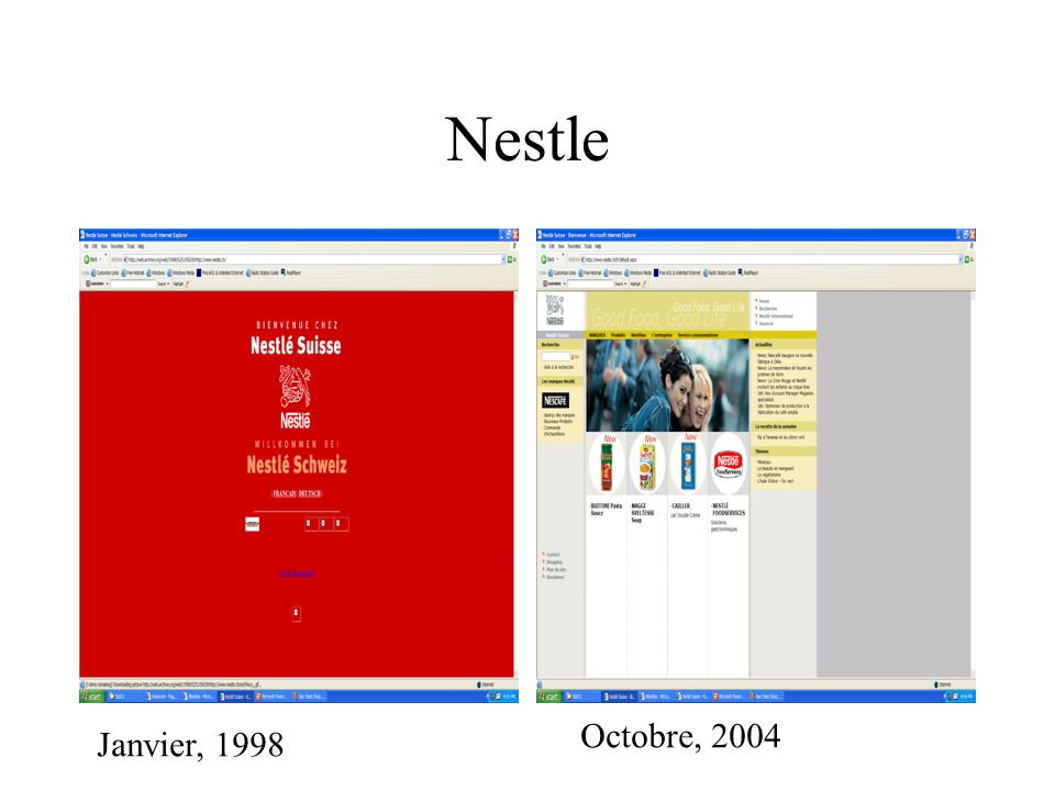Nestle Octobre, 2004 Janvier, 1998