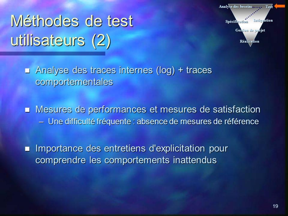 Méthodes de test utilisateurs (2)