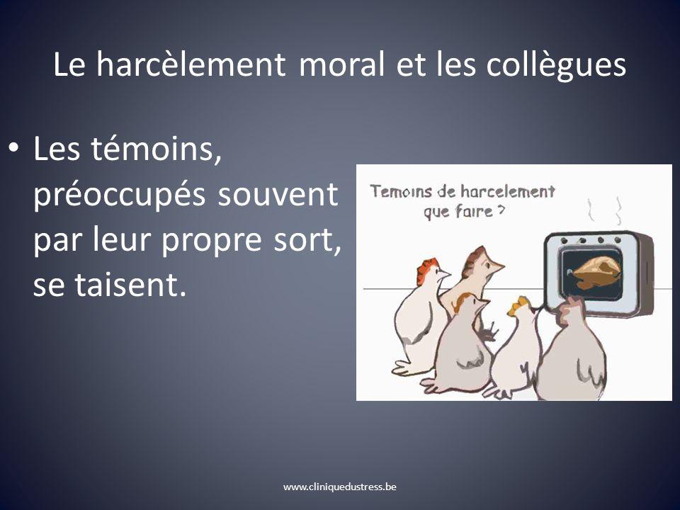 Le harcèlement moral et les collègues