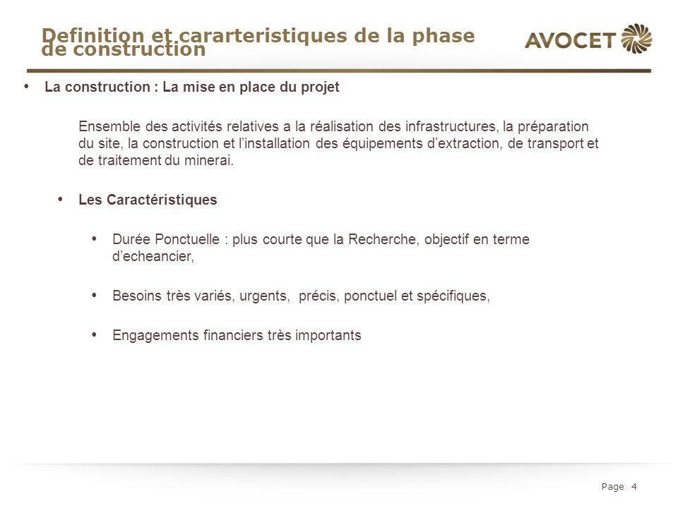 Definition et cararteristiques de la phase de construction