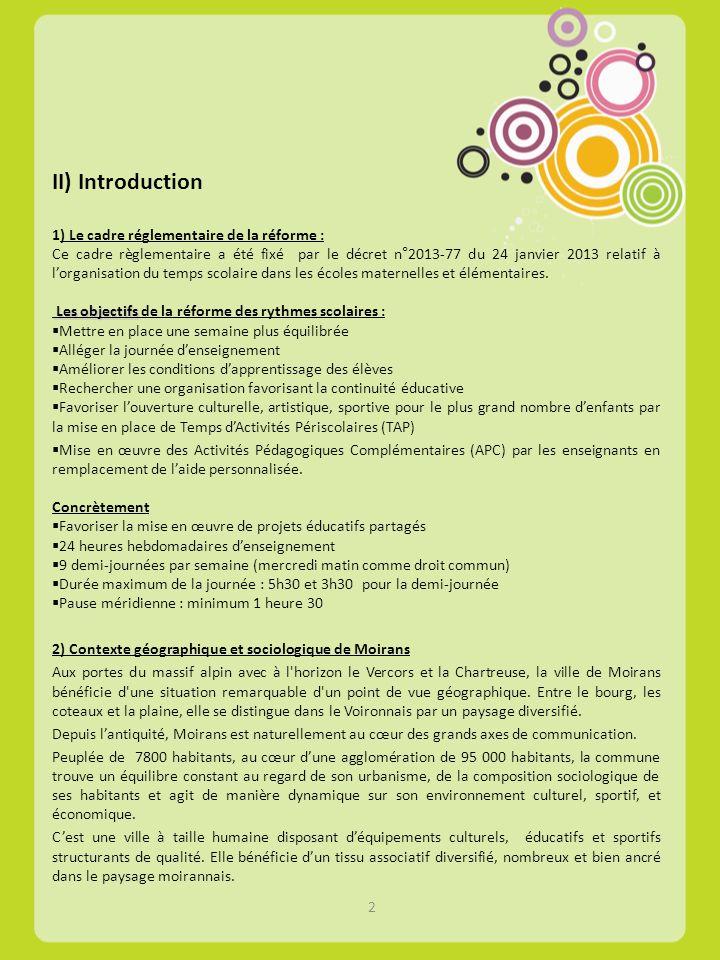 II) Introduction 1) Le cadre réglementaire de la réforme :