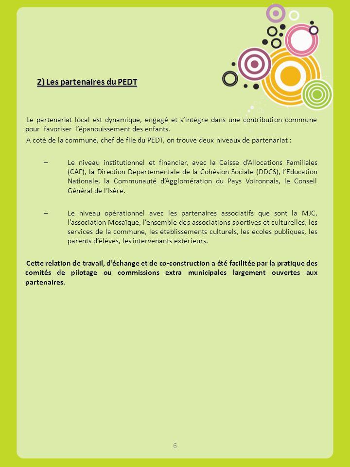 2) Les partenaires du PEDT
