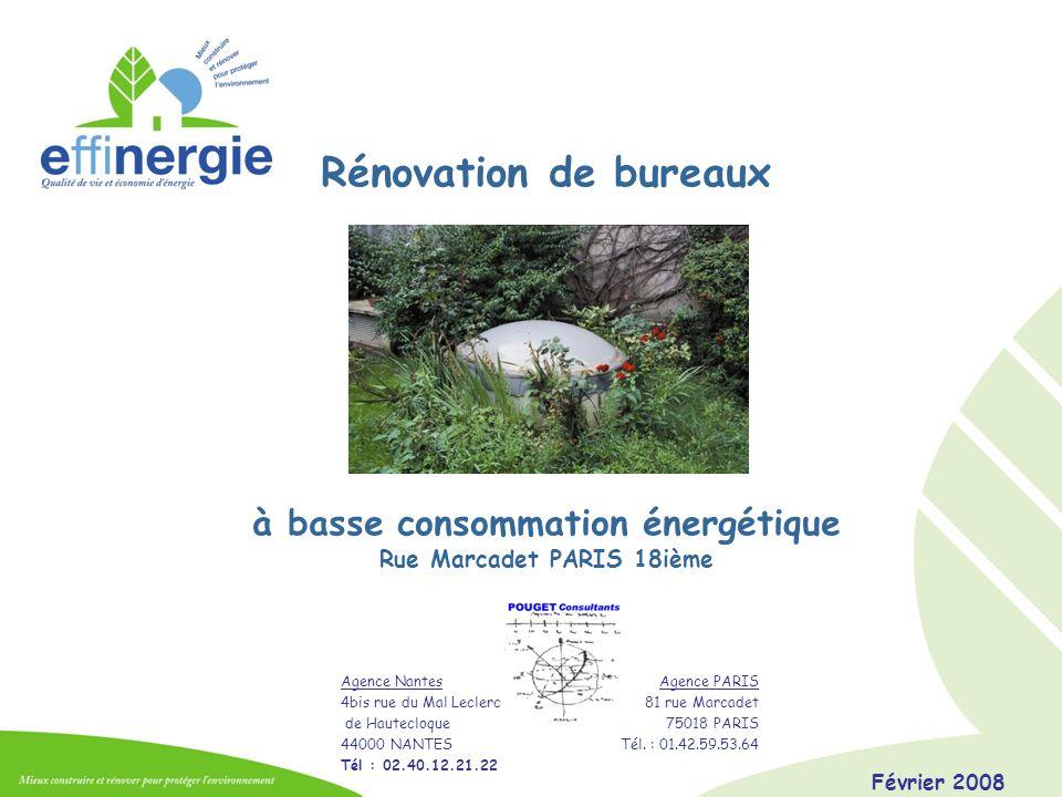 à basse consommation énergétique Rue Marcadet PARIS 18ième