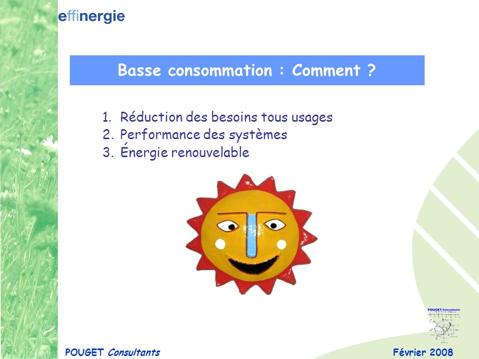 Basse consommation : Comment
