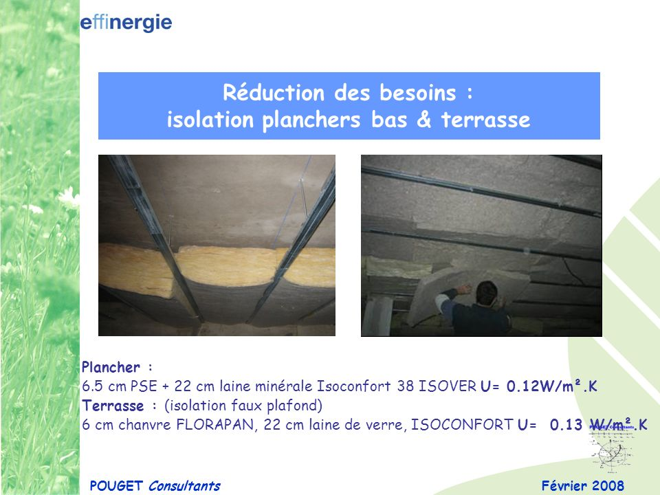 Réduction des besoins : isolation planchers bas & terrasse
