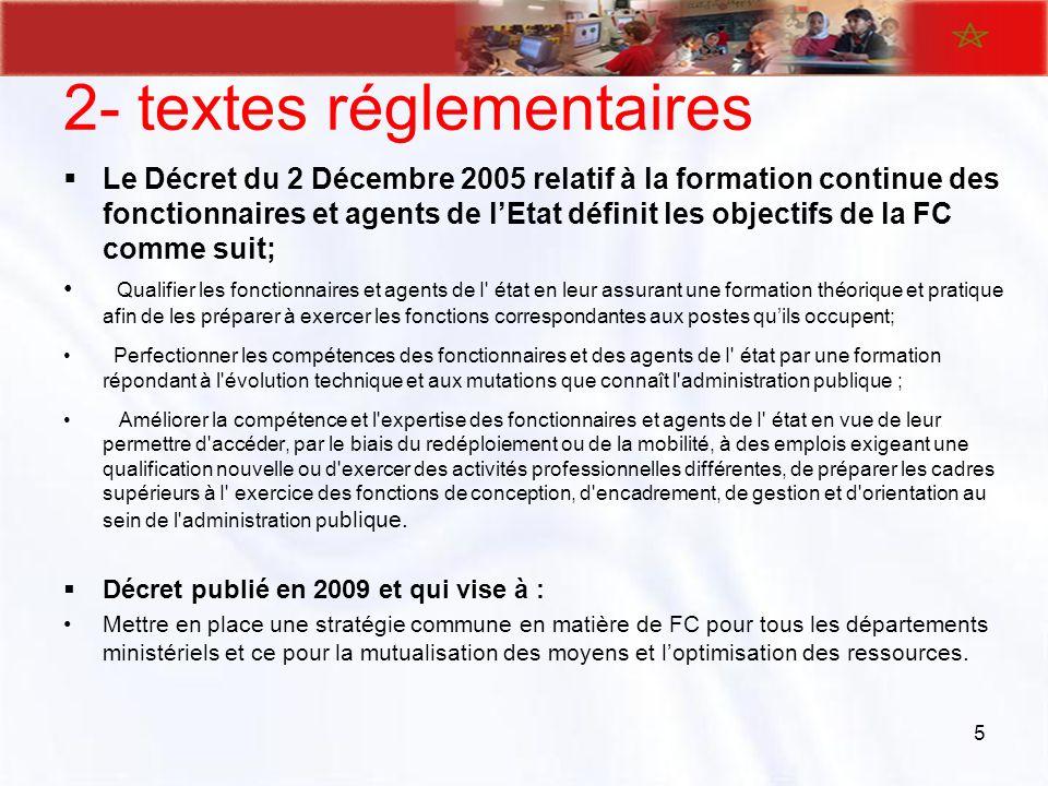 2- textes réglementaires