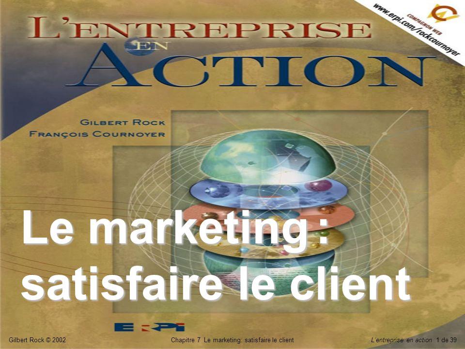 Le marketing : satisfaire le client