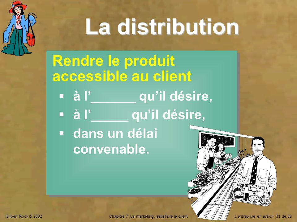 Chapitre 7 Le marketing: satisfaire le client