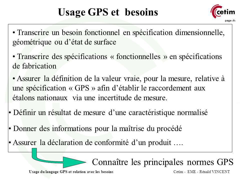 Usage GPS et besoins Connaître les principales normes GPS