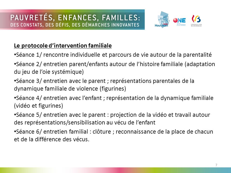 Le protocole d'intervention familiale