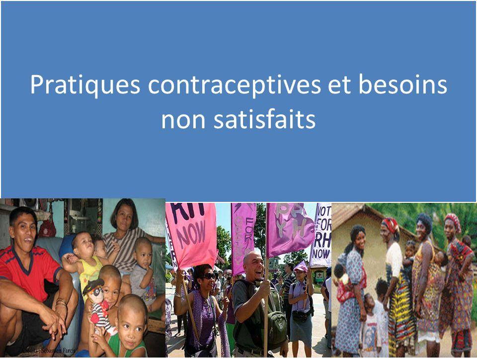 Pratiques contraceptives et besoins non satisfaits