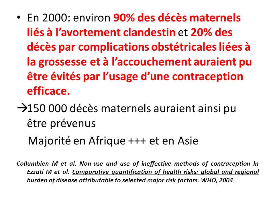 150 000 décès maternels auraient ainsi pu être prévenus