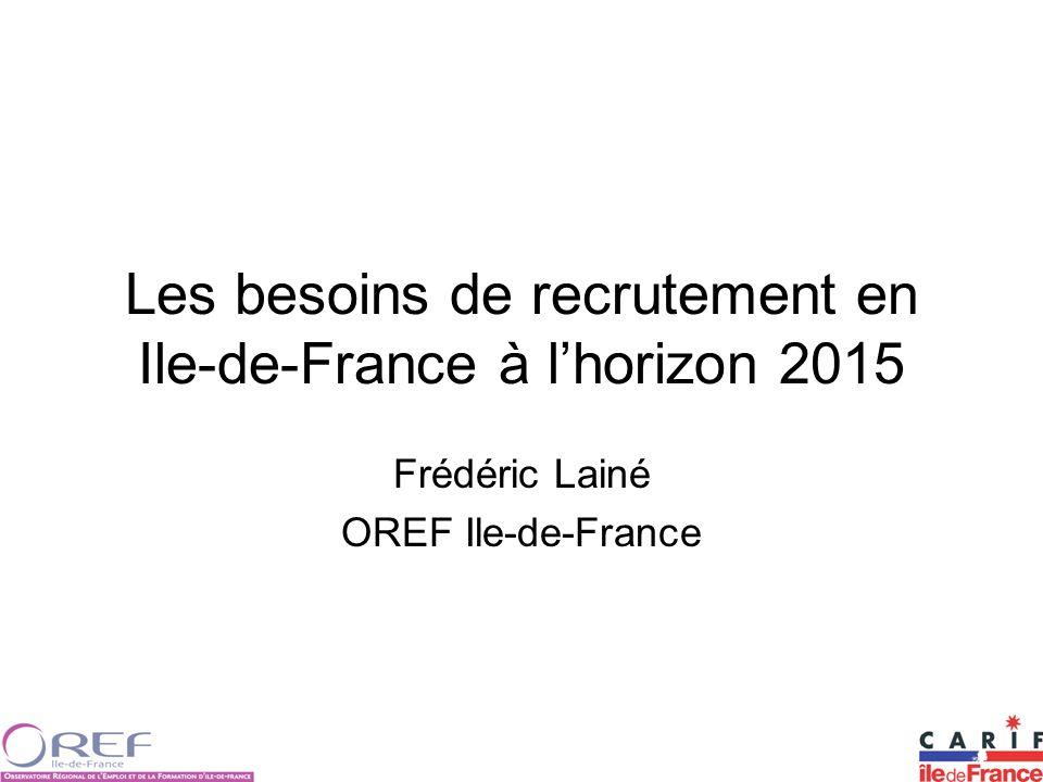 Les besoins de recrutement en Ile-de-France à l'horizon 2015