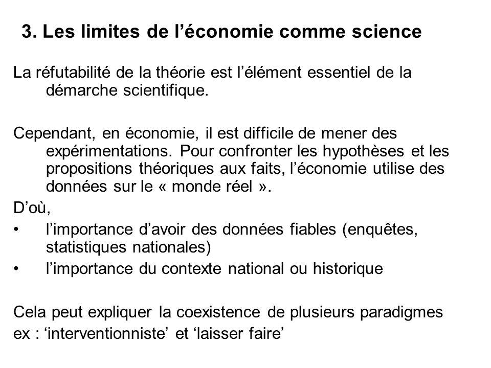 3. Les limites de l'économie comme science