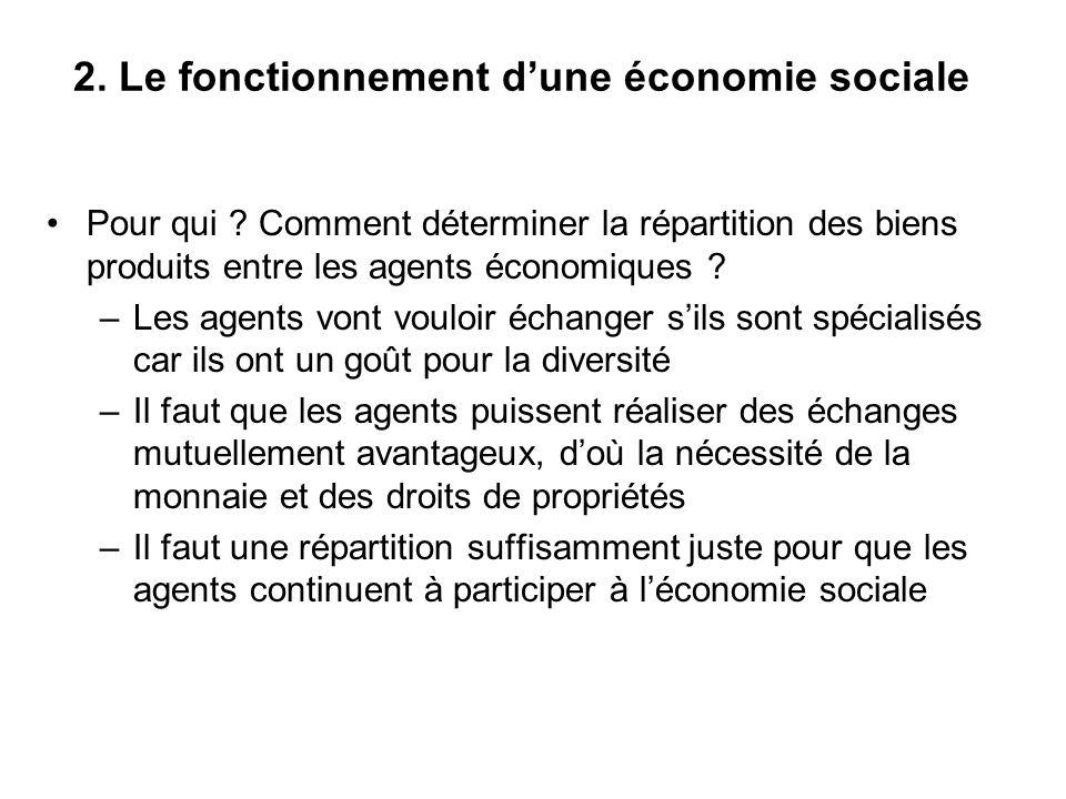 2. Le fonctionnement d'une économie sociale