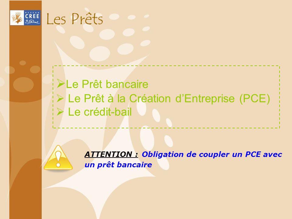 Les Prêts Le Prêt bancaire Le Prêt à la Création d'Entreprise (PCE)