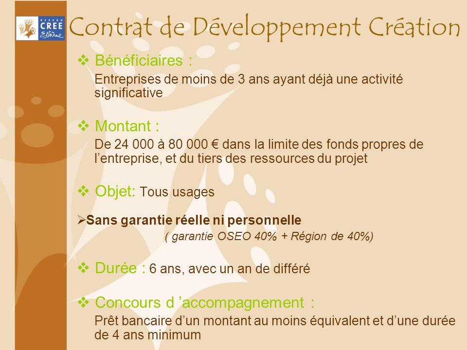 Contrat de Développement Création
