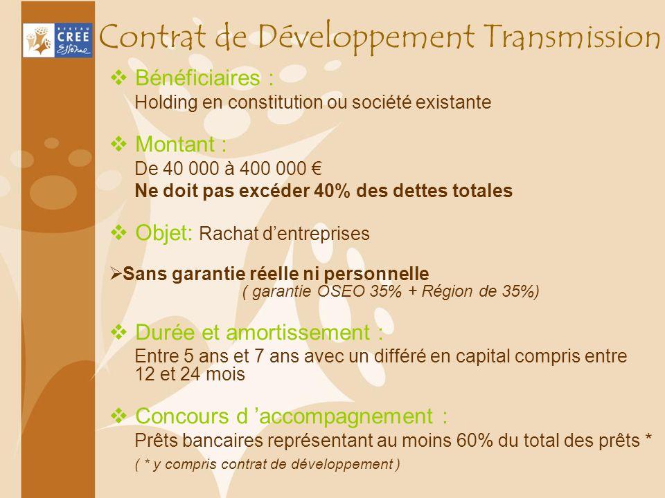 Contrat de Développement Transmission