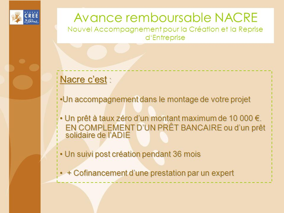 Avance remboursable NACRE