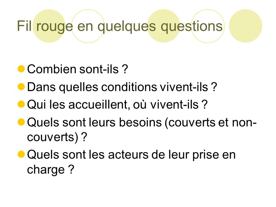 Fil rouge en quelques questions