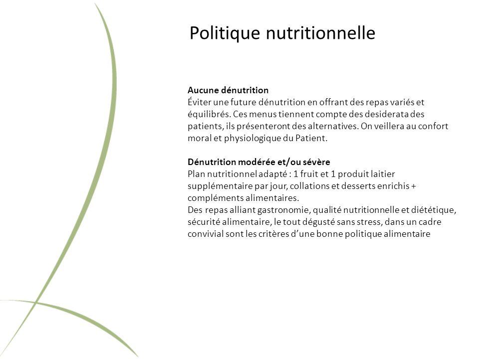 Politique nutritionnelle