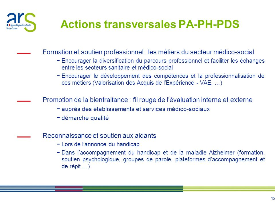 Actions transversales PA-PH-PDS