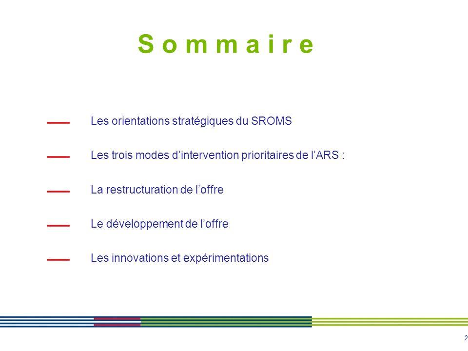 S o m m a i r e Les orientations stratégiques du SROMS