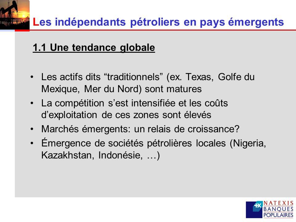 Les indépendants pétroliers en pays émergents
