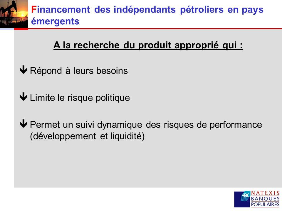 Financement des indépendants pétroliers en pays émergents