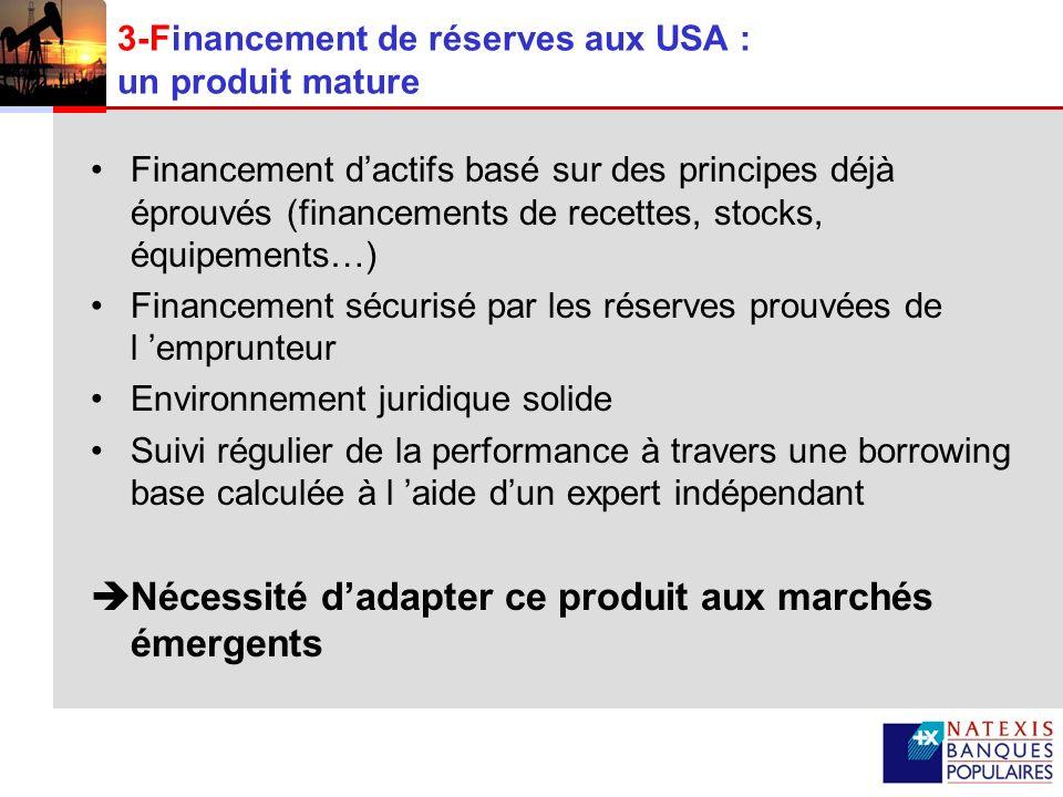 3-Financement de réserves aux USA : un produit mature