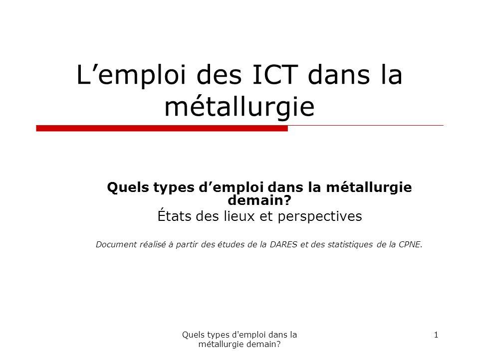 L'emploi des ICT dans la métallurgie