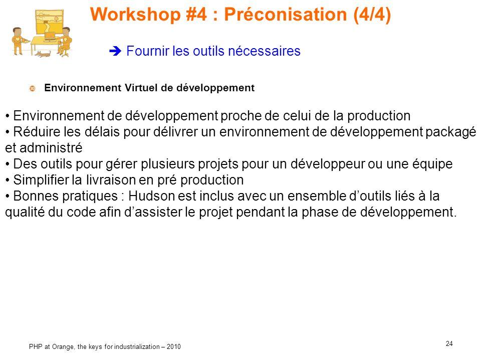 Workshop #4 : Préconisation (4/4)