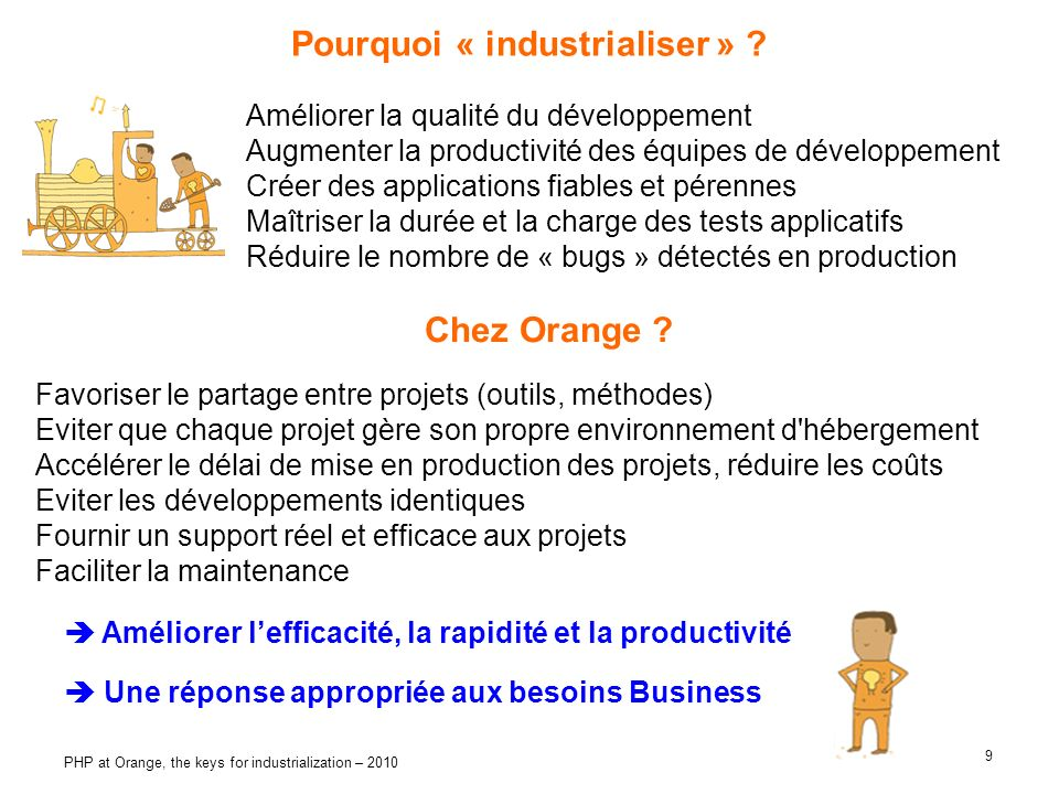 Pourquoi « industrialiser »