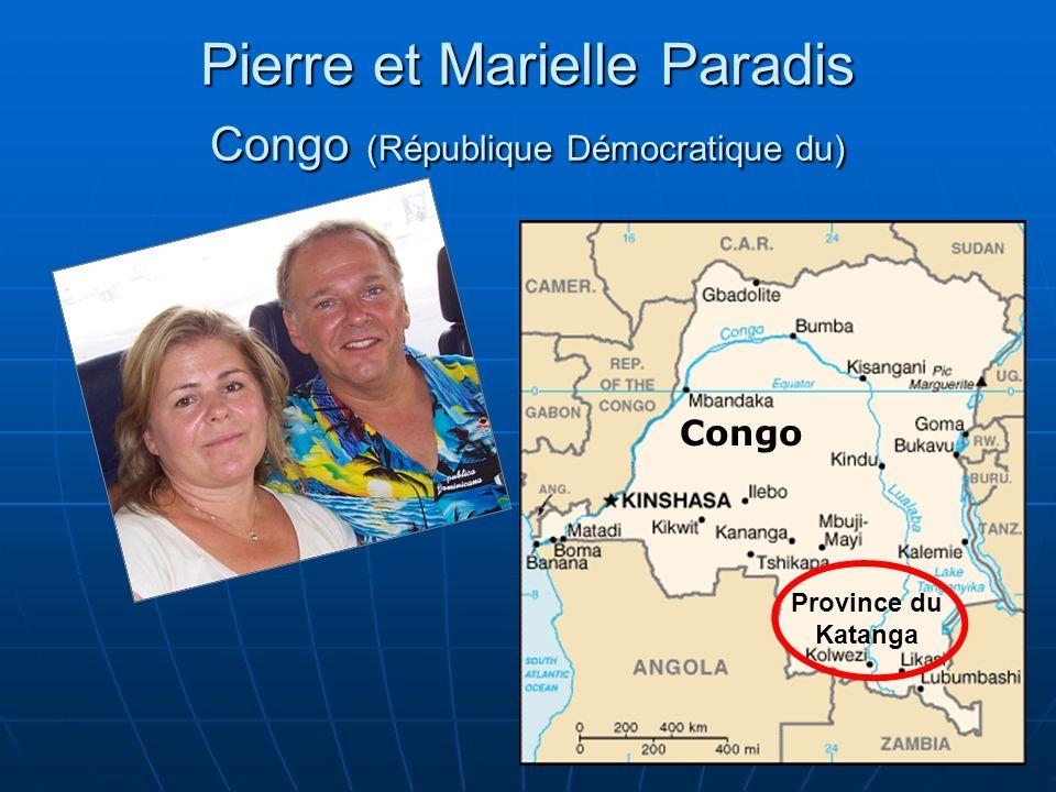 Pierre et Marielle Paradis Congo (République Démocratique du)