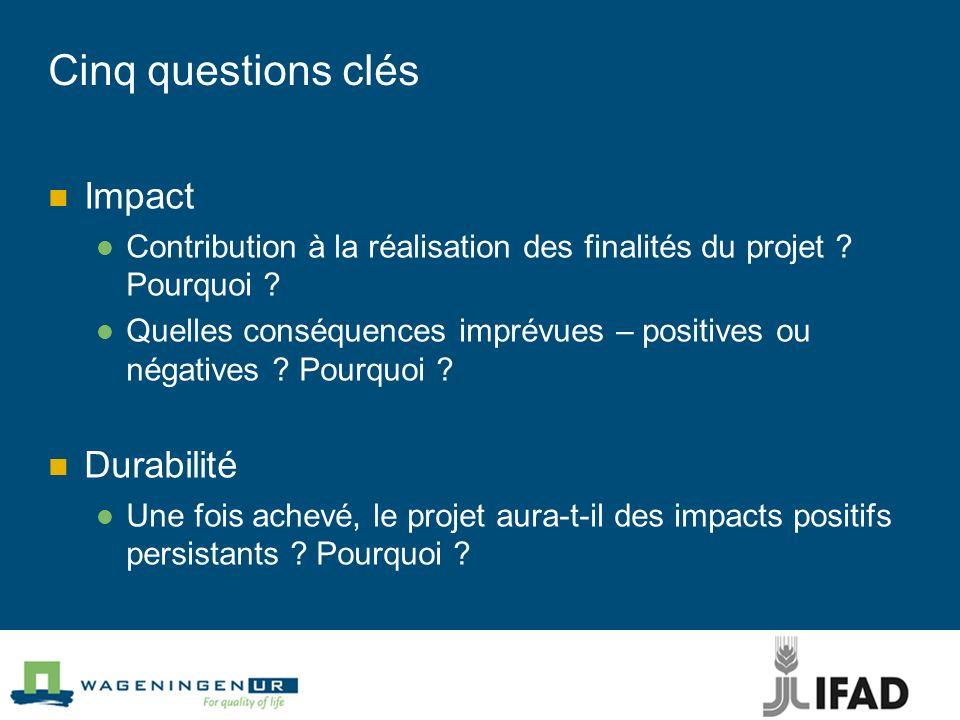 Cinq questions clés Impact Durabilité