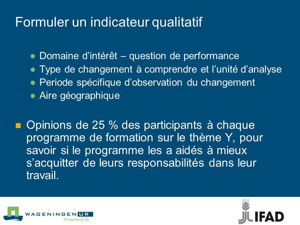 Formuler un indicateur qualitatif