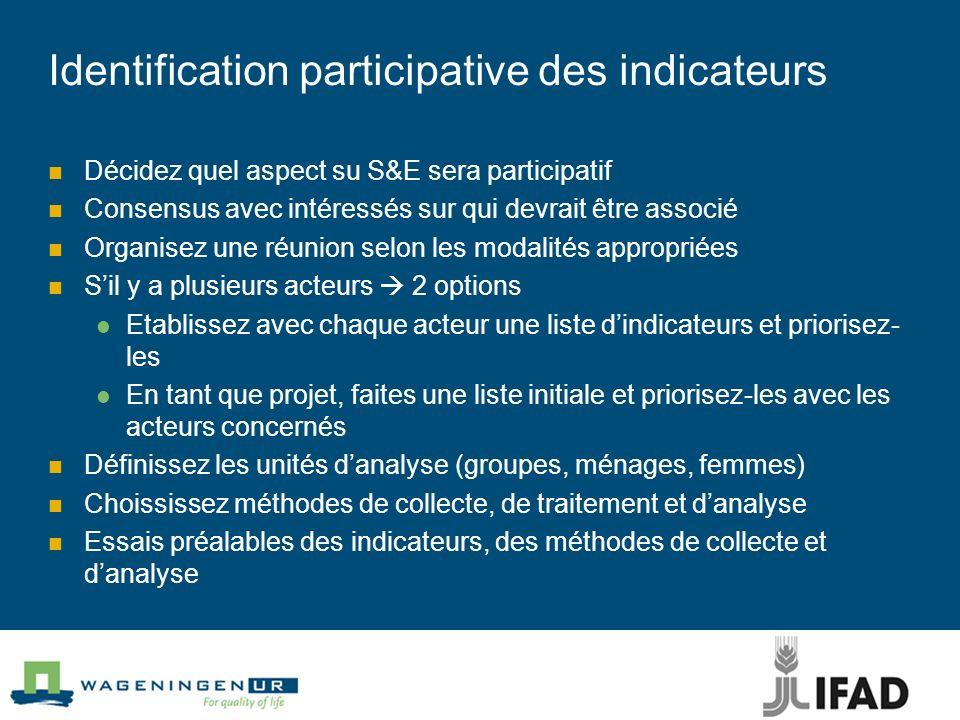 Identification participative des indicateurs