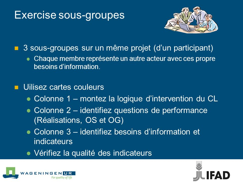 Exercise sous-groupes