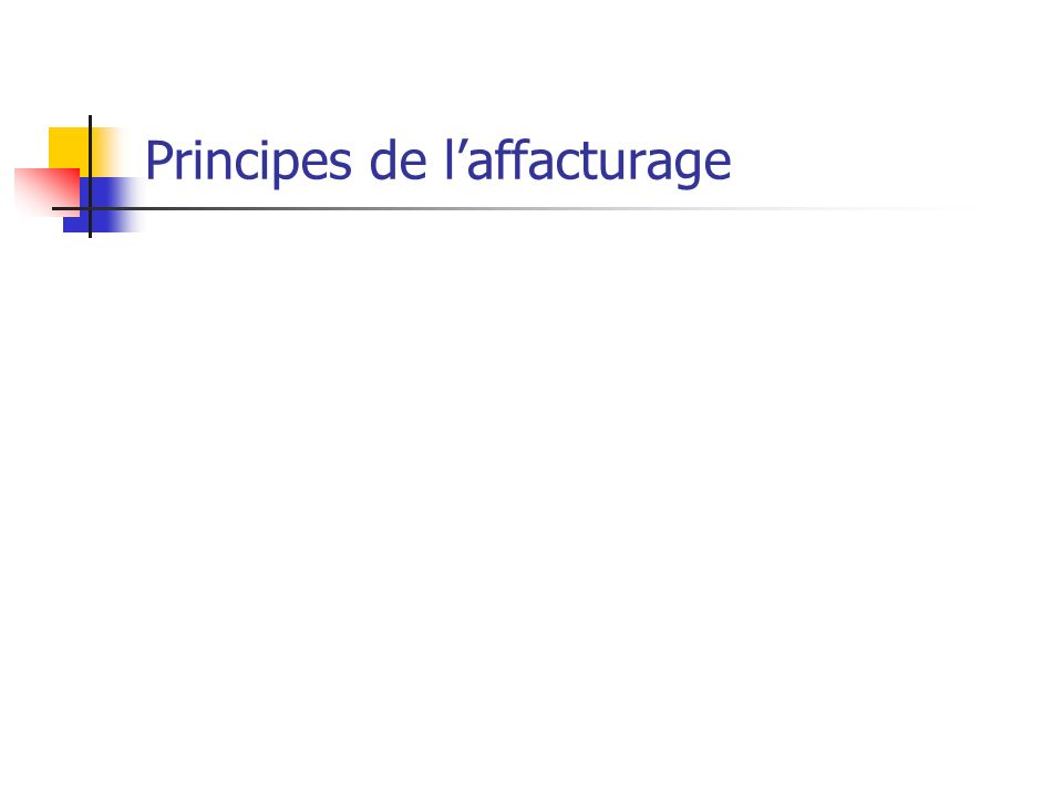 Principes de l'affacturage