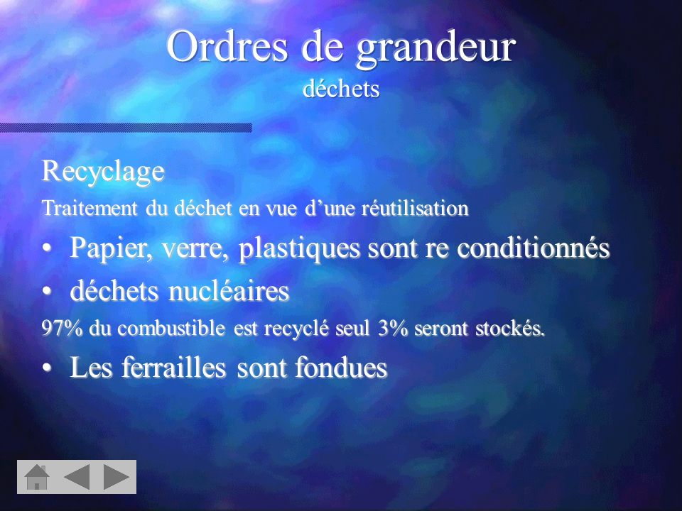 Ordres de grandeur déchets