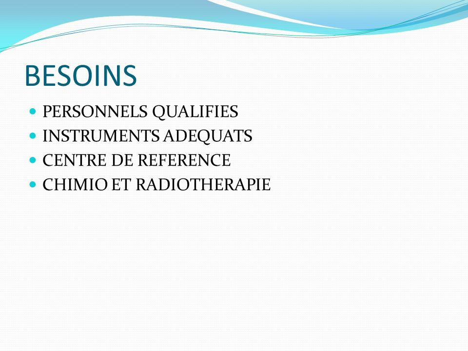 BESOINS PERSONNELS QUALIFIES INSTRUMENTS ADEQUATS CENTRE DE REFERENCE