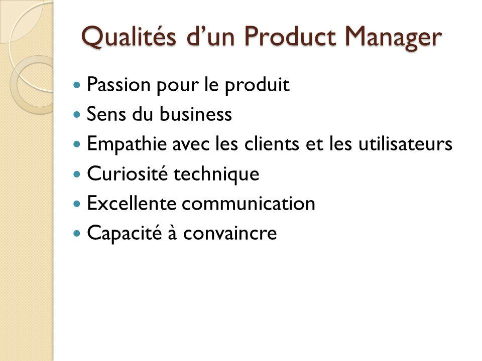 Qualités d'un Product Manager