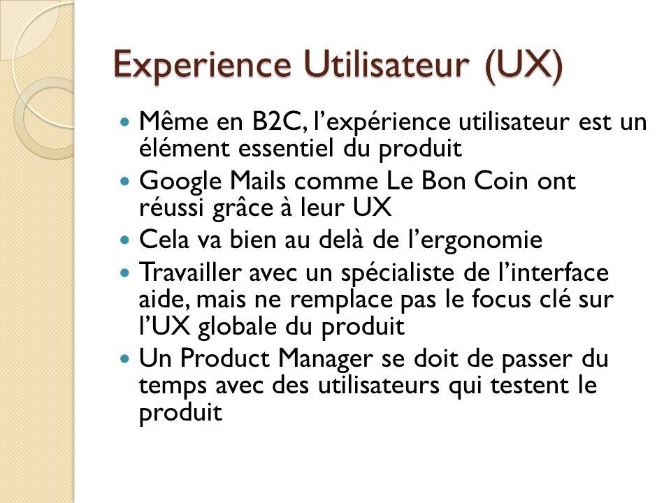 Experience Utilisateur (UX)