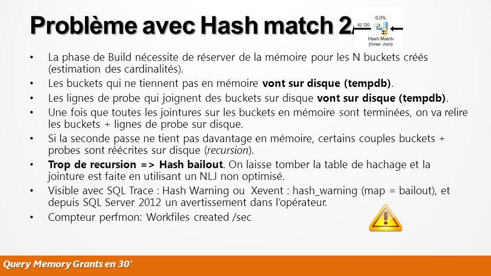 Problème avec Hash match 2/2